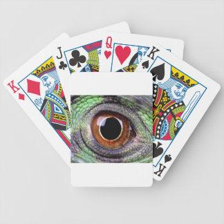 Iguana eye bicycle playing cards