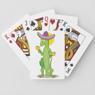 Iguana In A Sombrero Playing Cards
