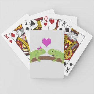 Iguana Love Playing Cards