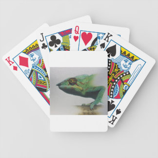 Iguana Portrait Bicycle Playing Cards