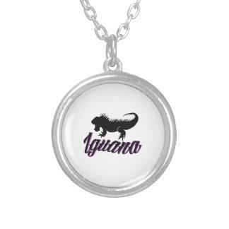 Iguana Round Pendant Necklace