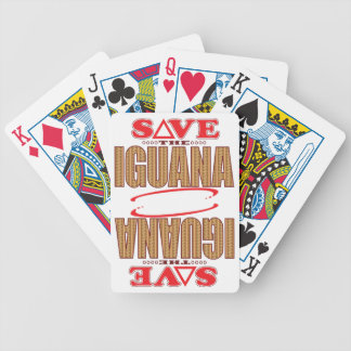 Iguana Save Bicycle Playing Cards