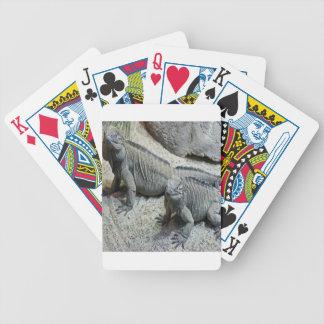 Iguanas reptile nature design bicycle playing cards