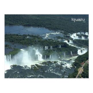 Iguazu falls - Aerial view Postcard