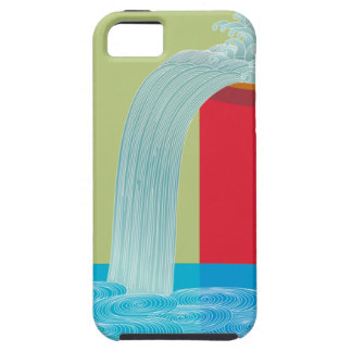 Iight green and orange fountain design iPhone5 iPhone 5 Cover