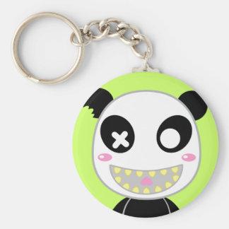 Ijimekko the Panda Basic Round Button Key Ring