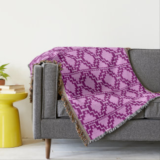 Ikat Aztec Tribal - Amethyst Purple and Violet
