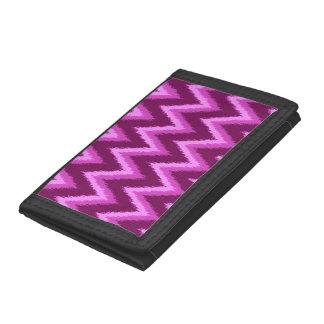 Ikat Chevron Stripes - Amethyst Purple and Violet Tri-fold Wallet