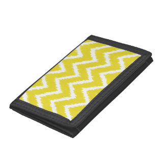 Ikat Chevrons - Mustard yellow and white Tri-fold Wallet