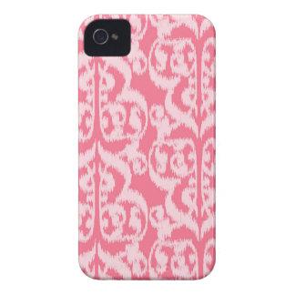 Ikat Moorish Damask - shades of coral pink iPhone 4 Cover
