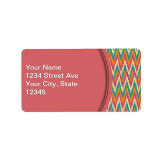 iKat Zigzag Design Spice Colors Address Label