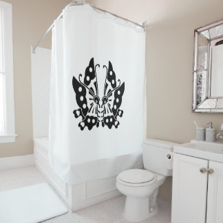 Ikeda opposite it is, the butterfly shower curtain