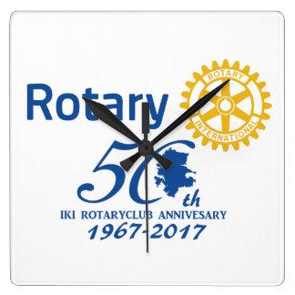 Iki rotary 50th anniversary commemoration wall clocks