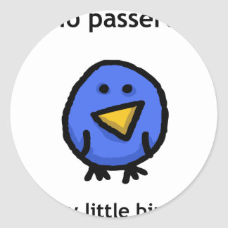 Il Mio Passerotto (My Little Bird) Classic Round Sticker