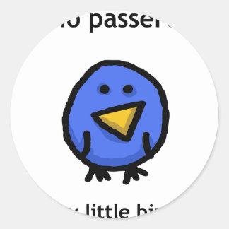 Il Mio Passerotto (My Little Bird) Round Sticker
