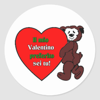 Il Mio Valentino Perferito Sei Tu Classic Round Sticker