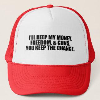 I'LL KEEP MY MONEY, FREEDOM, AND GUNS TRUCKER HAT