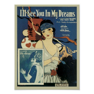I'll See You In My Dreams Vintage Songbook Cover Posters