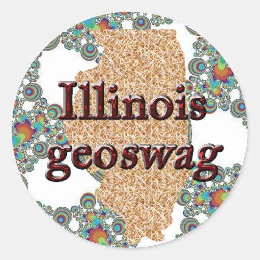 Illinois Geocaching Supplies Stickers Geoswag