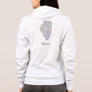 Illinois map hoodie