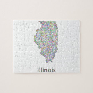 Illinois map jigsaw puzzle