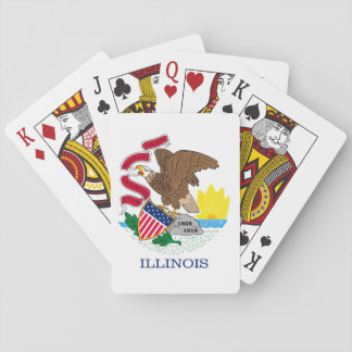 Illinois State Flag Design Playing Cards