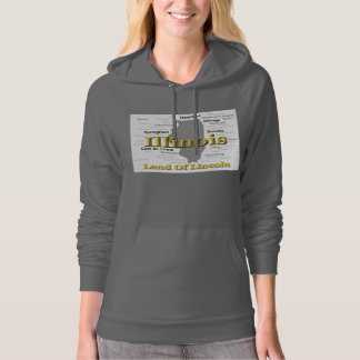 Illinois State Pride Map Silhouette Hoodie