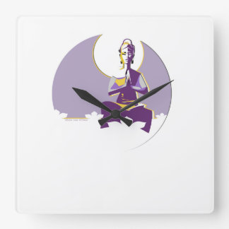 Illuminate woman or Yogini, with full 'moon mind' Square Wall Clock