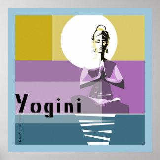 illuminate woman, yoga posture poster