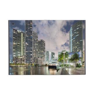 Illuminated towers at the Miami River waterfront iPad Mini Case