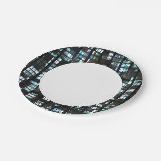 Illuminated windows pattern 7 inch paper plate
