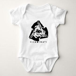 Illuminati All Seeing Eye Baby Bodysuit