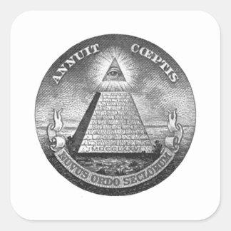 Illuminati All Seeing Eye Square Sticker