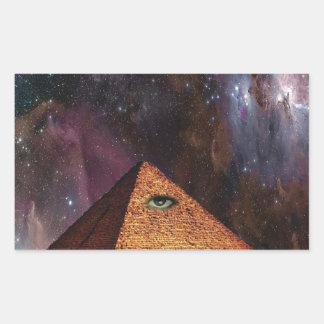 Illuminati Galactic Mystery Rectangular Sticker