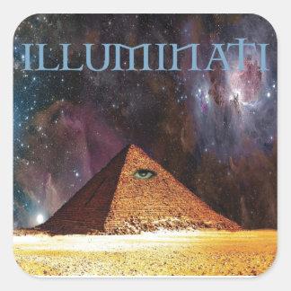 Illuminati Galactic Mystery Square Sticker