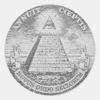 illuminati logo classic round sticker