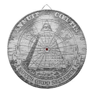 illuminati logo dartboard