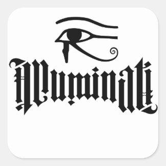 Illuminati Square Sticker