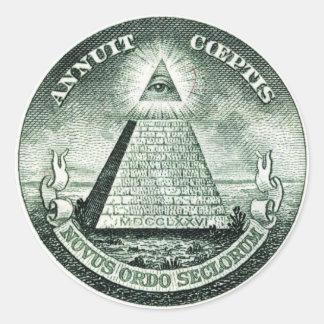 Illuminati US Great Seal Round Sticker