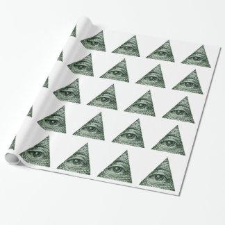illuminati wrapping paper
