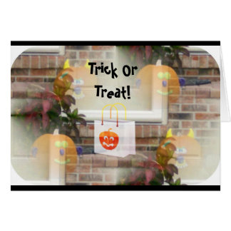 Illusionary Pumpkins with Tote Bag-Trick or Treat! Greeting Cards