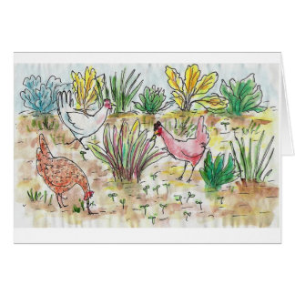 Illustrated Chicken Greeting Card