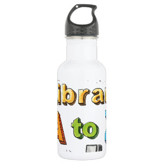 Illustrated Library A-Z Logo 532 Ml Water Bottle
