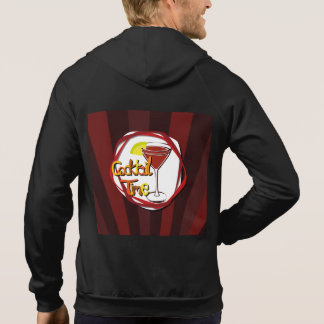 "Illustration Cocktail with lemon ""Cocktail Time"" Hoodie"