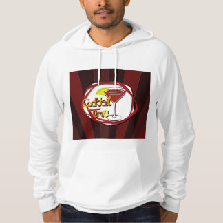 """Illustration Cocktail with lemon """"Cocktail Time"""" Hoodie"""