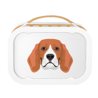 Illustration dogs face Beagle Lunch Box