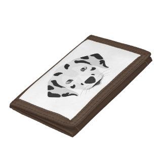 Illustration dogs face Dalmatian Tri-fold Wallet
