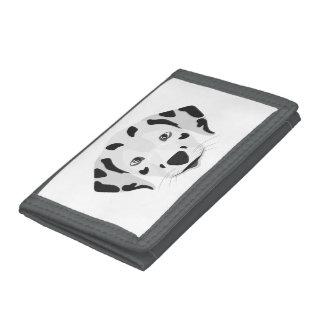 Illustration dogs face Dalmatian Tri-fold Wallets