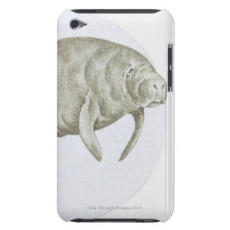Illustration of a Manatee (Trichechus sp.) iPod Touch Cases