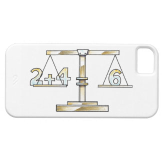 Illustration of adding numbers on scales iPhone 5 cases
